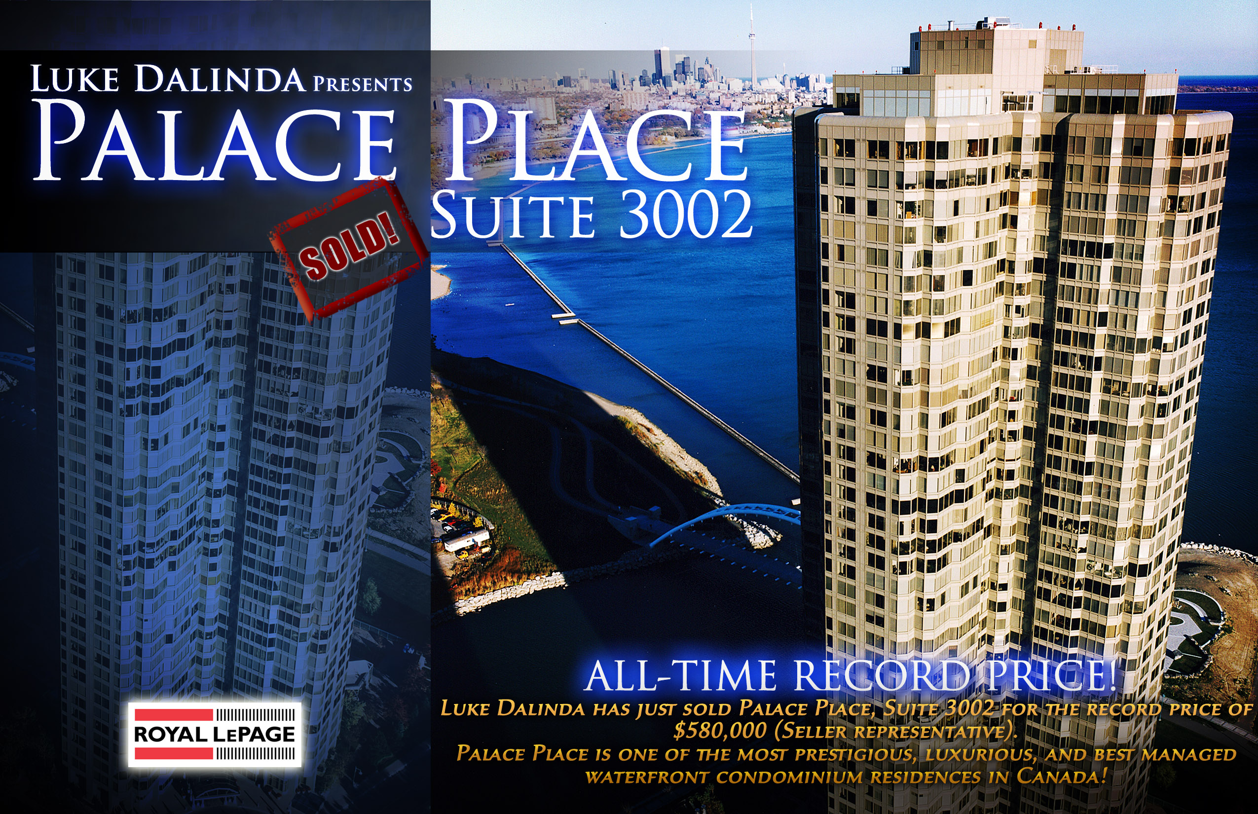 Palace Place Suite 3002 SOLD