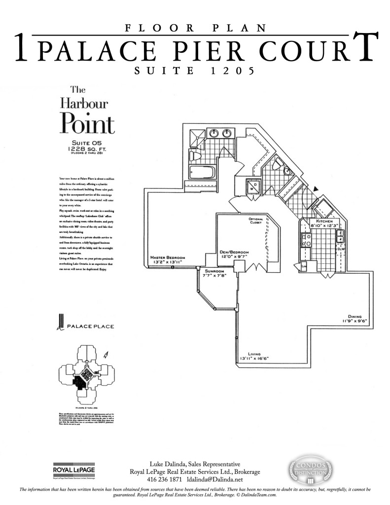 Palace Place 1205 Floor Plan