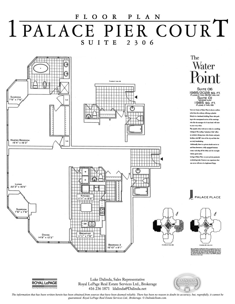 palace place 2306 floor plan