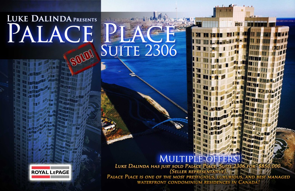 Palace Place Suite 2306 Sold