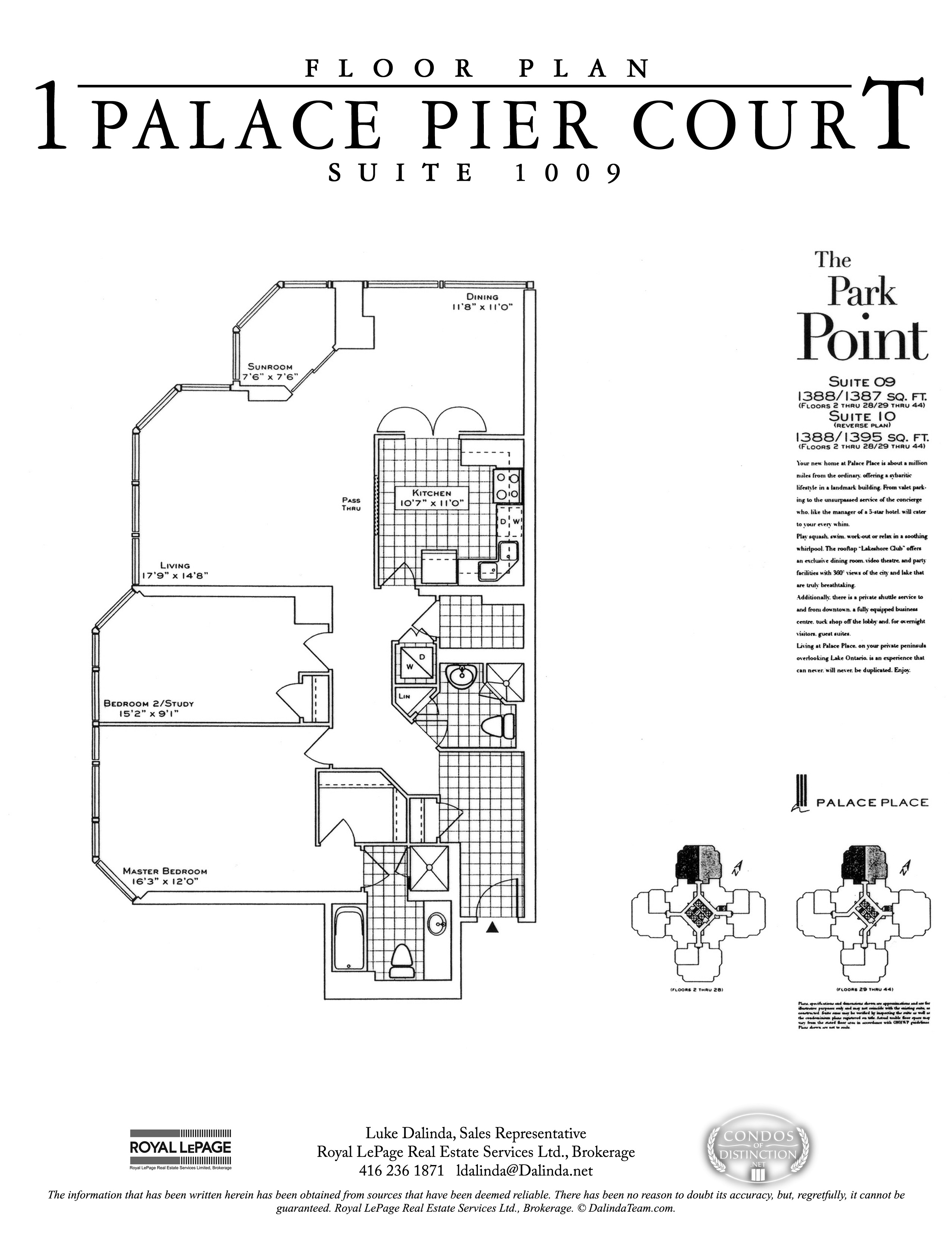 palace place suite 1009 floor plan